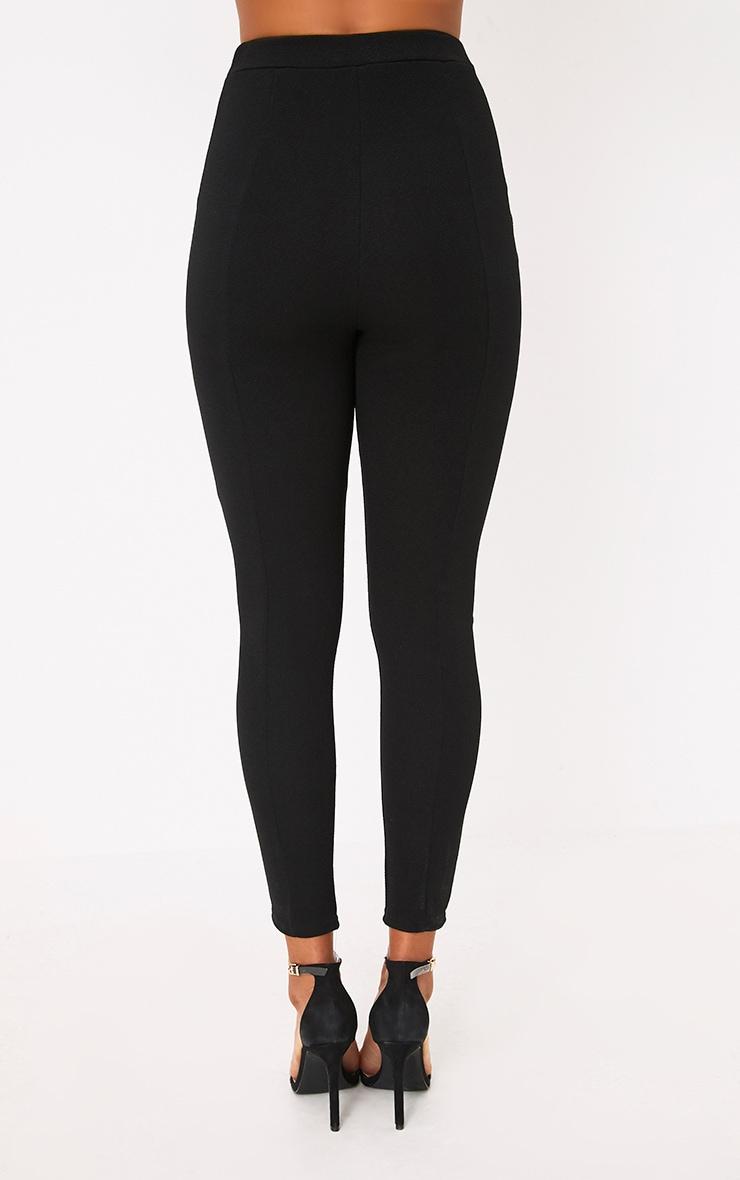 Black Full Hook & Eye Skinny Pants 4