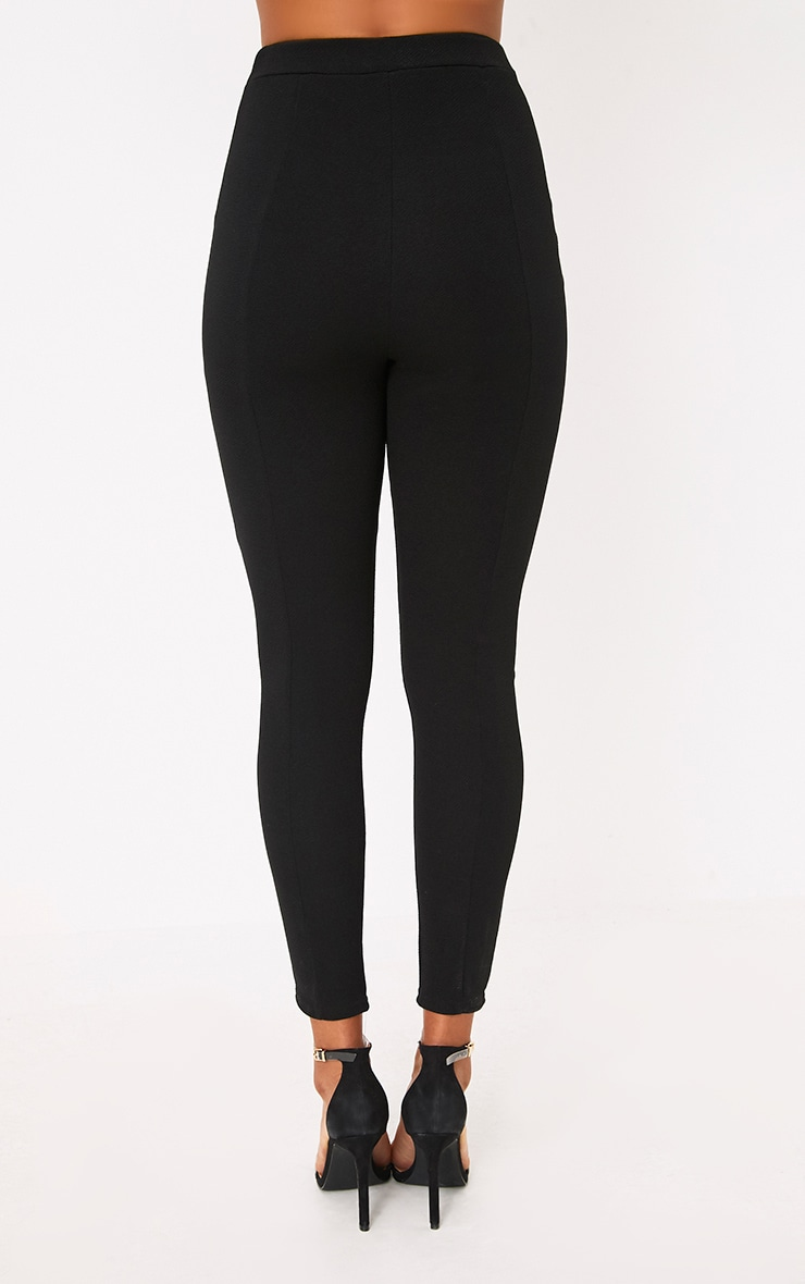 Pantalon skinny noir à agrafes 4
