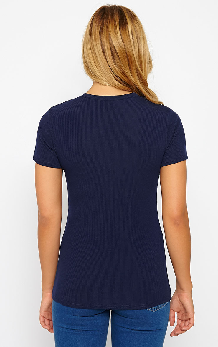 Basic Navy Premium Ribbed Tee 2