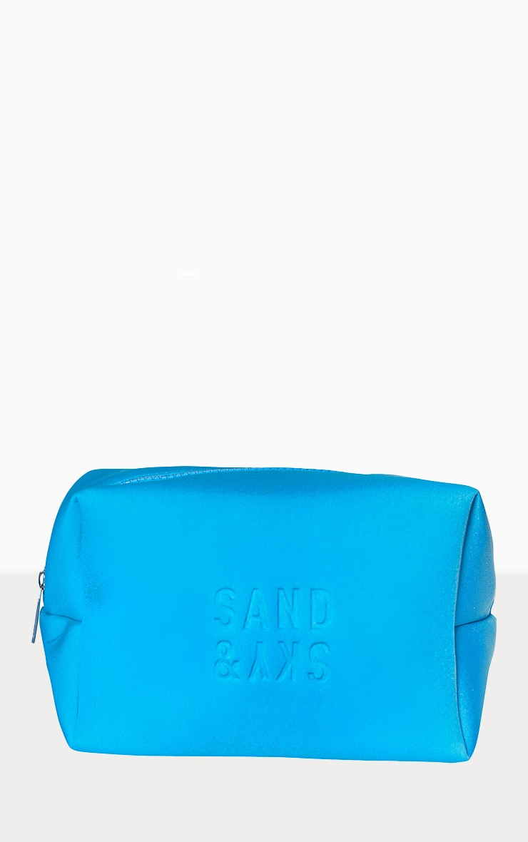 Sand & Sky Neoprene Holiday Makeup Pouch Tasmanian Spring Water Blue 2