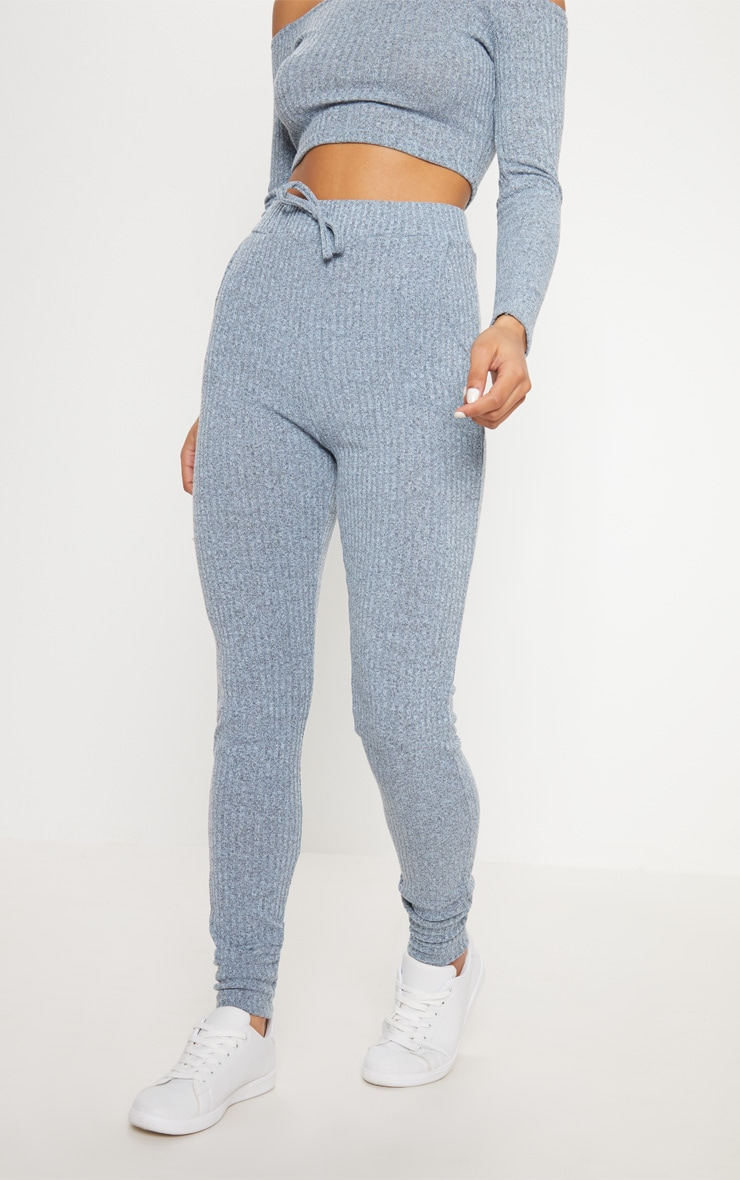 Dusty Blue Bardot Knit Set 6