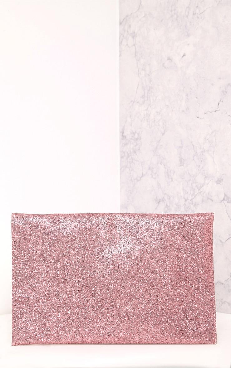 Paige Pink Glitter Clutch Bag 4