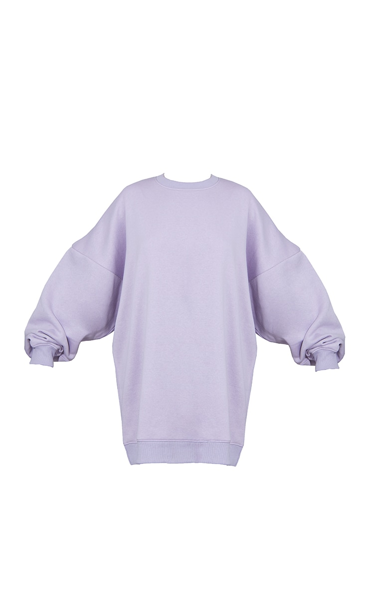 Lilac Buffalo New York Slogan Sweat Jumper Dress 5