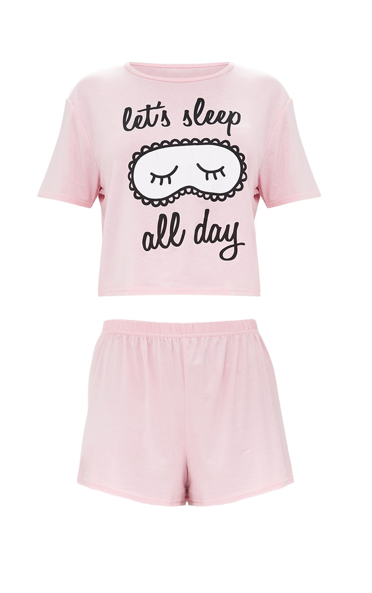 Baby Pink Sleep All Day PJ Set 3
