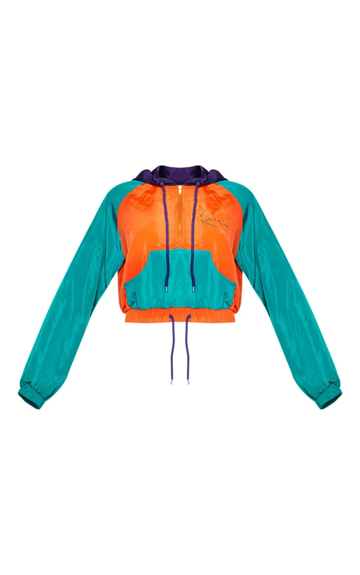 KARL KANI Orange Windbreaker Hooded Jacket 4