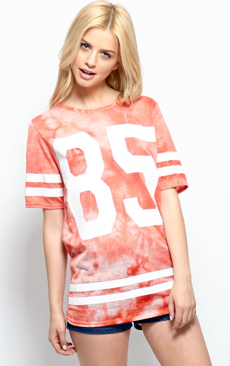 Luci Red Tie Dye '85' Sports Tee 1