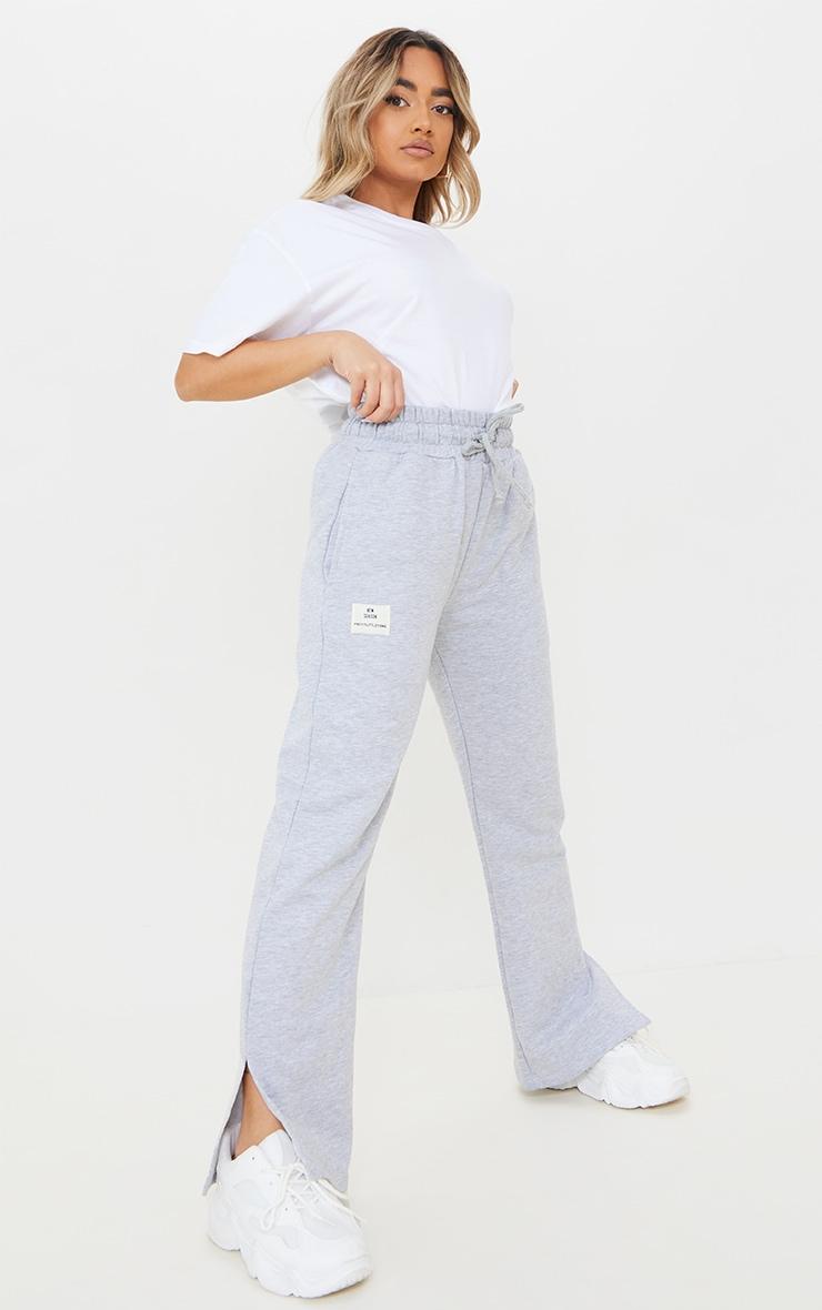 PRETTYLITTLETHING Petite Grey Wide Leg Joggers 1