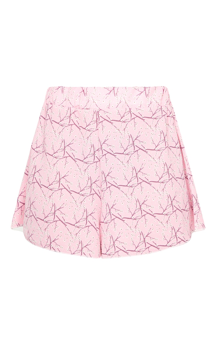 Pink Ditsy Floral Lightweight Floaty Shorts 6