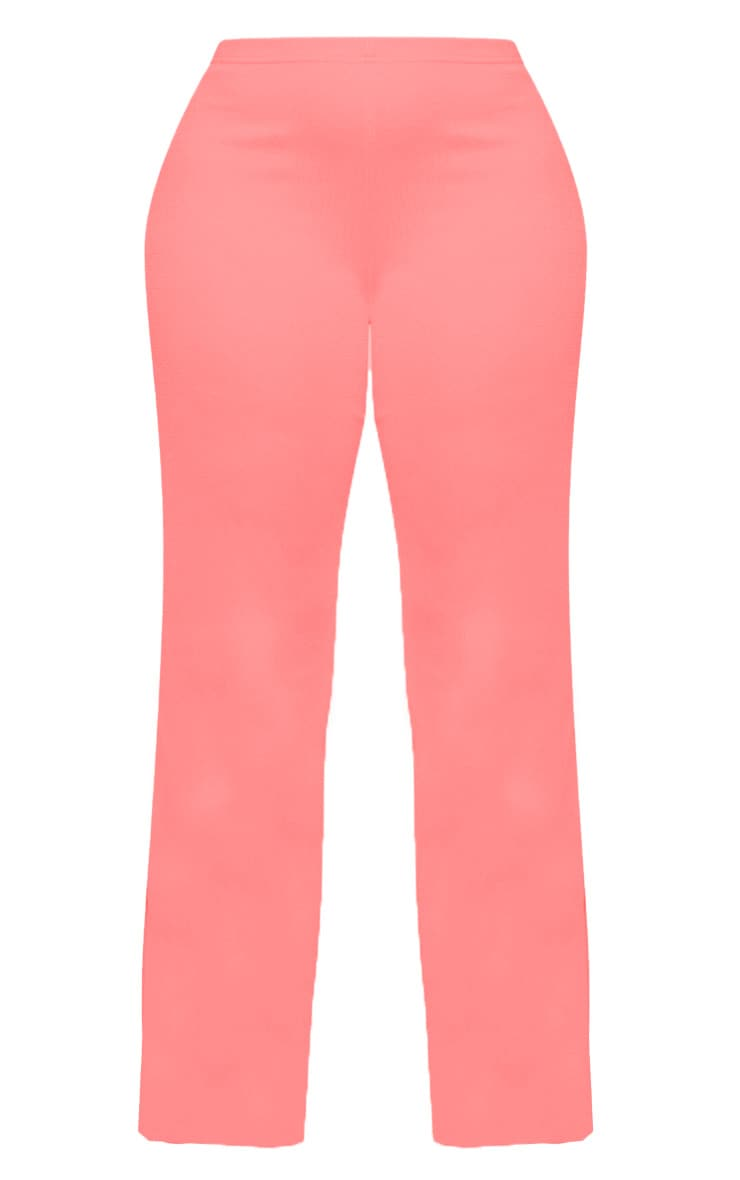 Plus Neon Pink Wide Leg Trouser  3