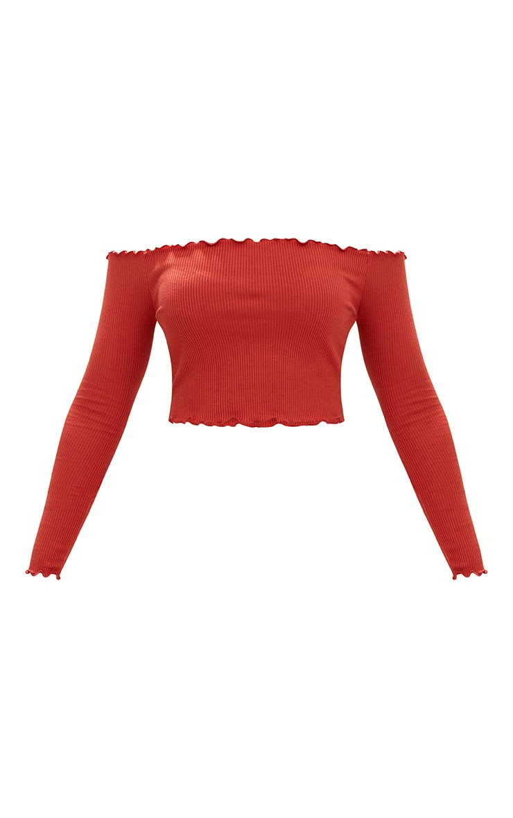 Spice Frill Edge Crop Top 3