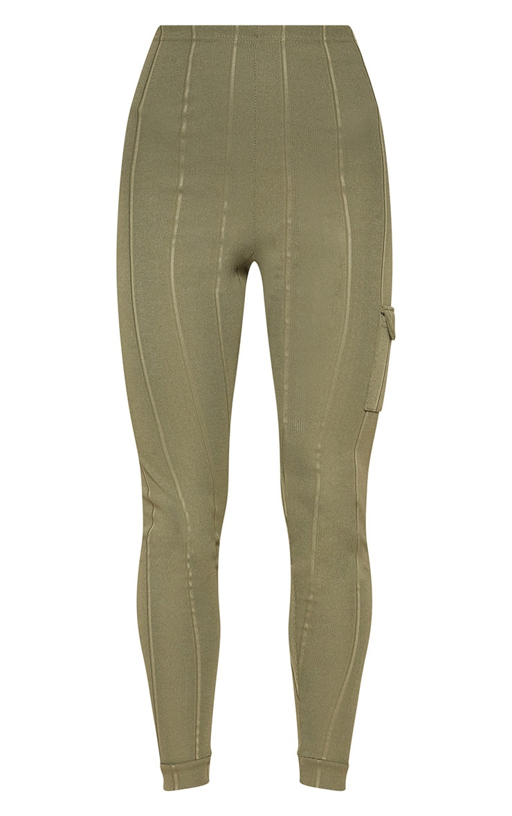 Khaki Bandage Pocket Detail Skinny Trouser 3