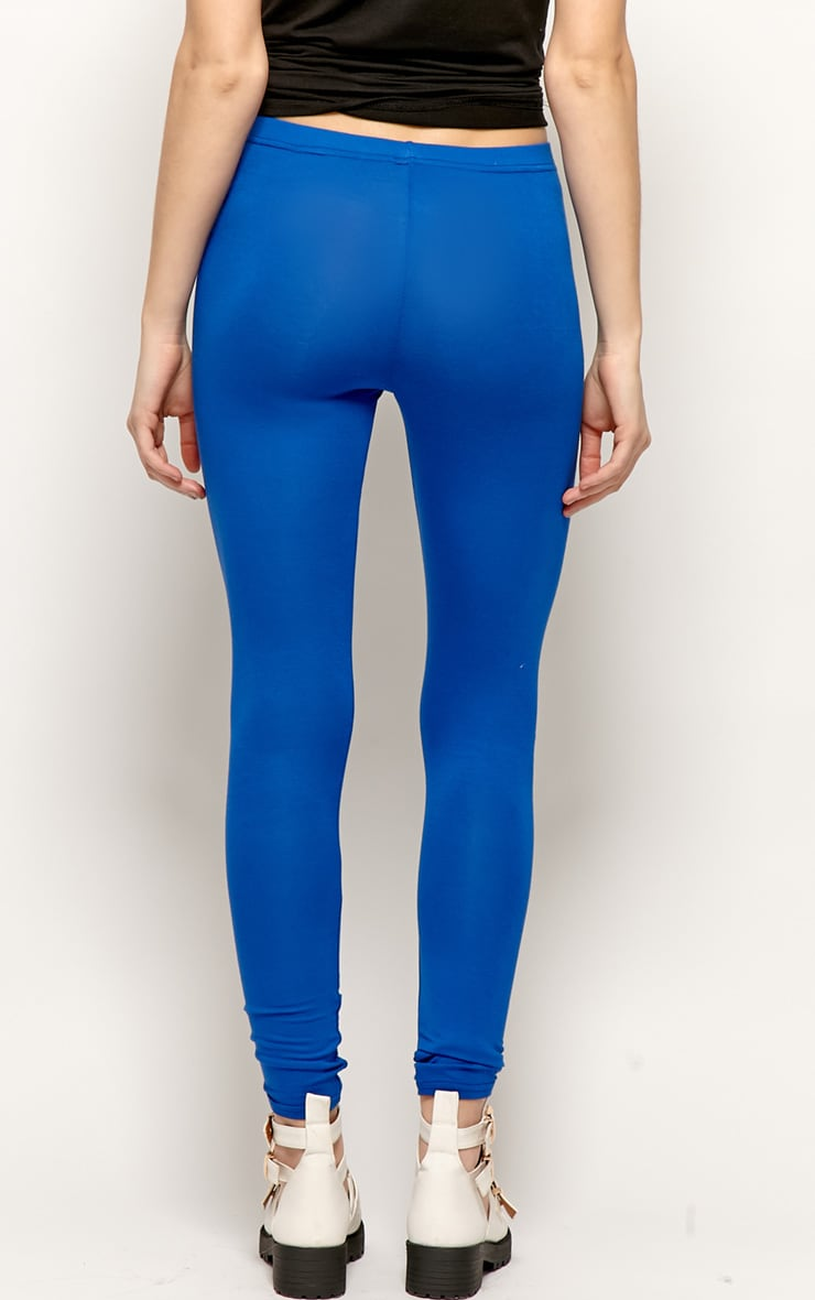Sofie Royal Blue Jersey Leggings 2