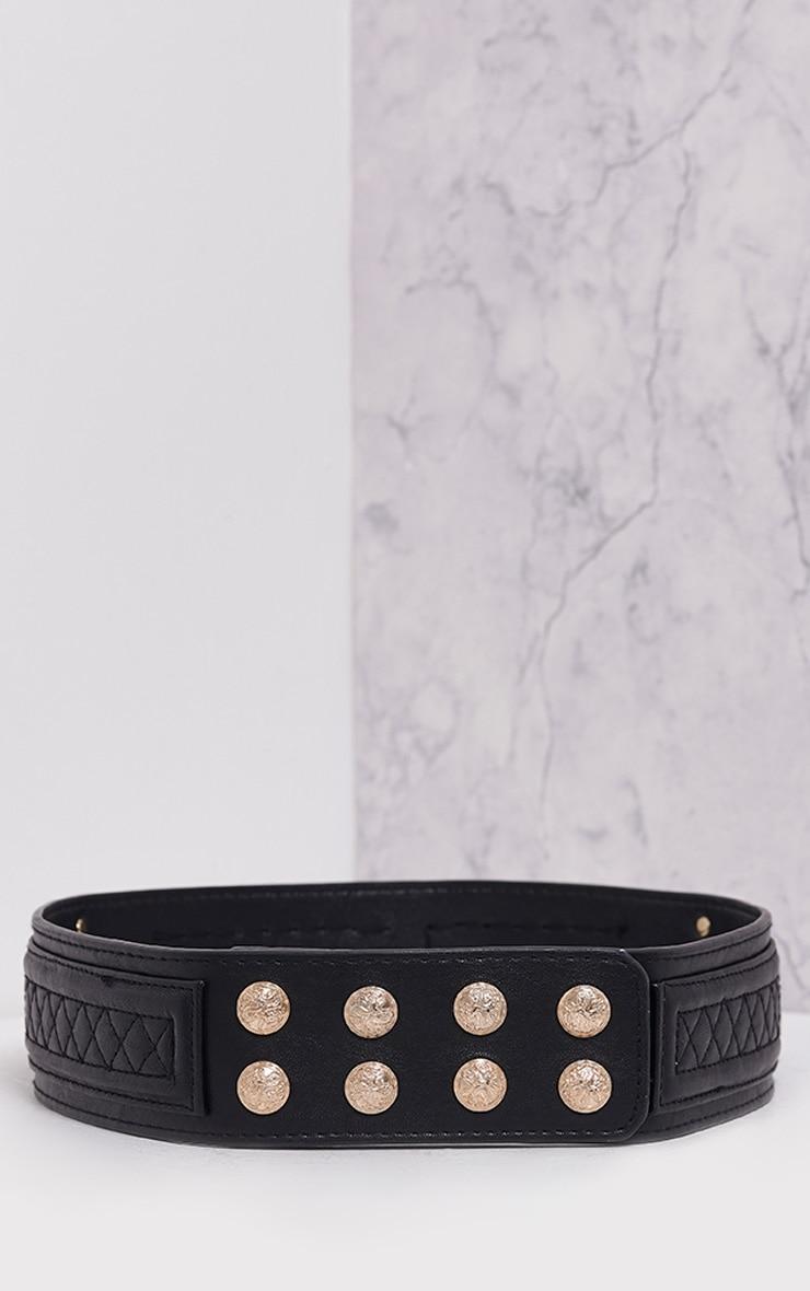 Nell Black Ornate Stud Waist Belt 5