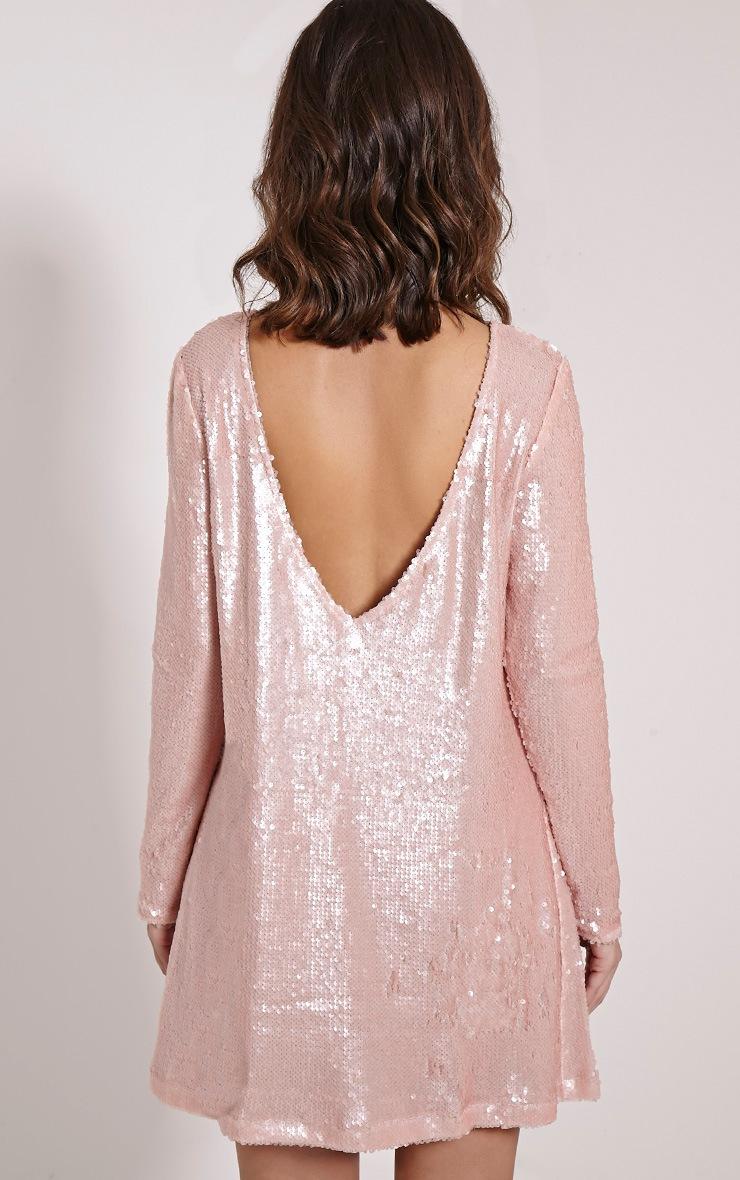 Clarita Pink Oversized Sequin Dress 2