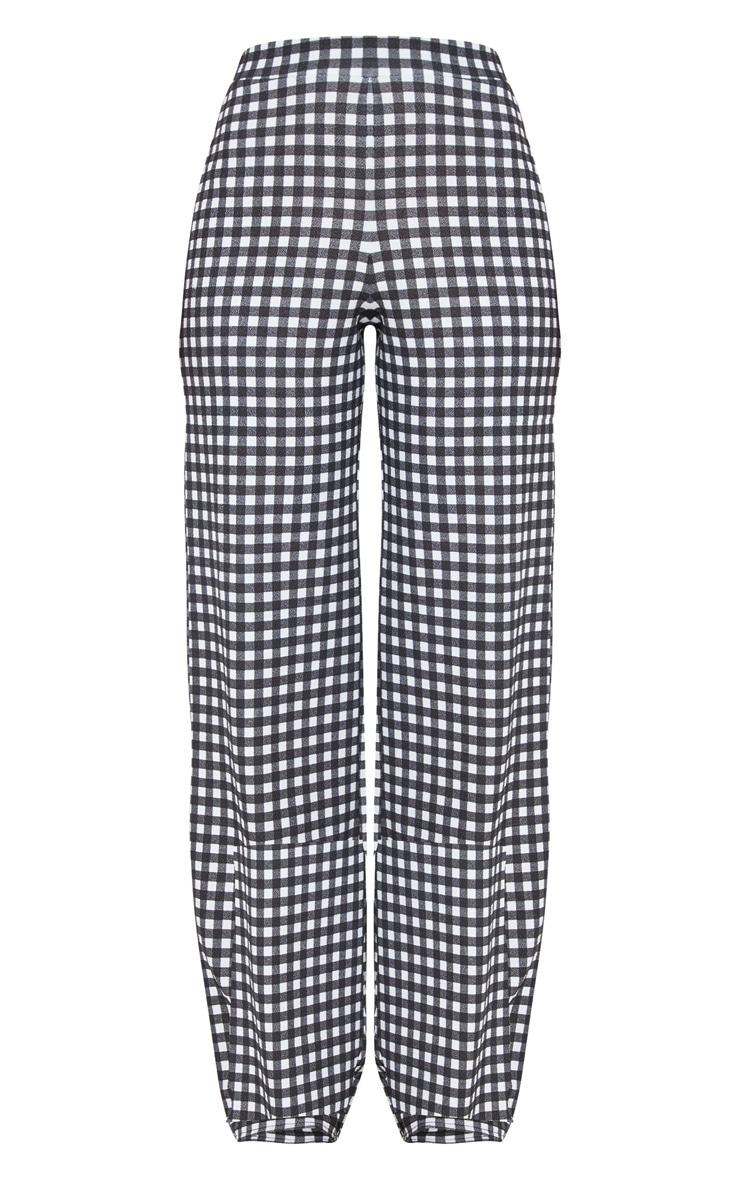 Pantalon à carreaux vichy noir 3