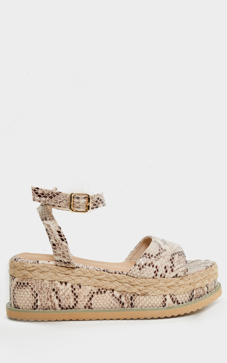 Snake Faux Leather Flatform Sandal 3