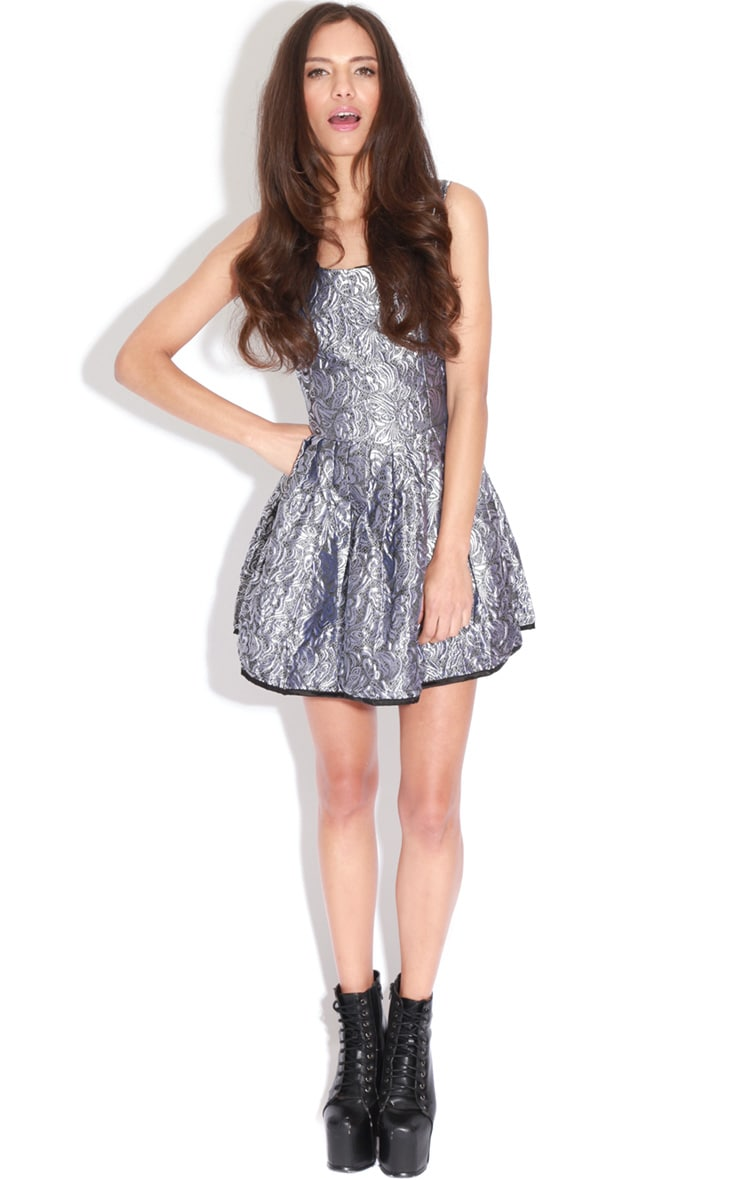 Martie Silver Baroque Heart Cut Out Dress 3