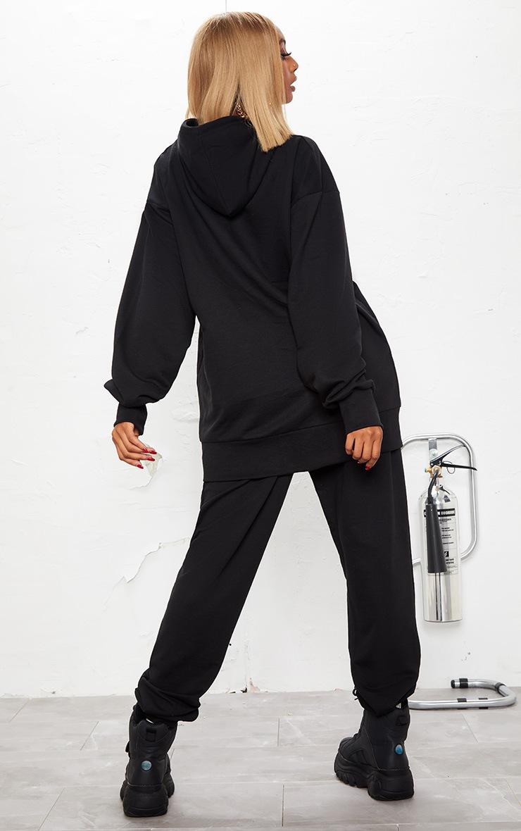 KARL KANI Black PRETTYLITTLETHING Oversized Hoodie 3