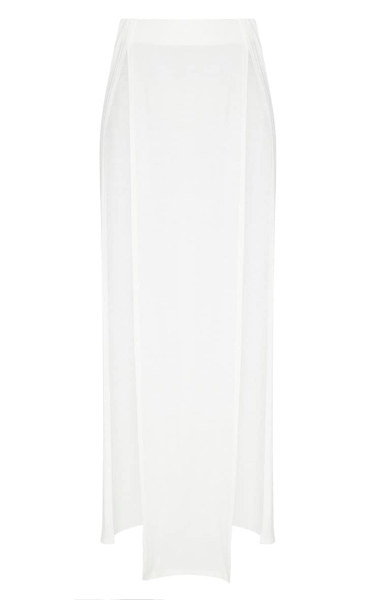 White Double Split Maxi Skirt 3
