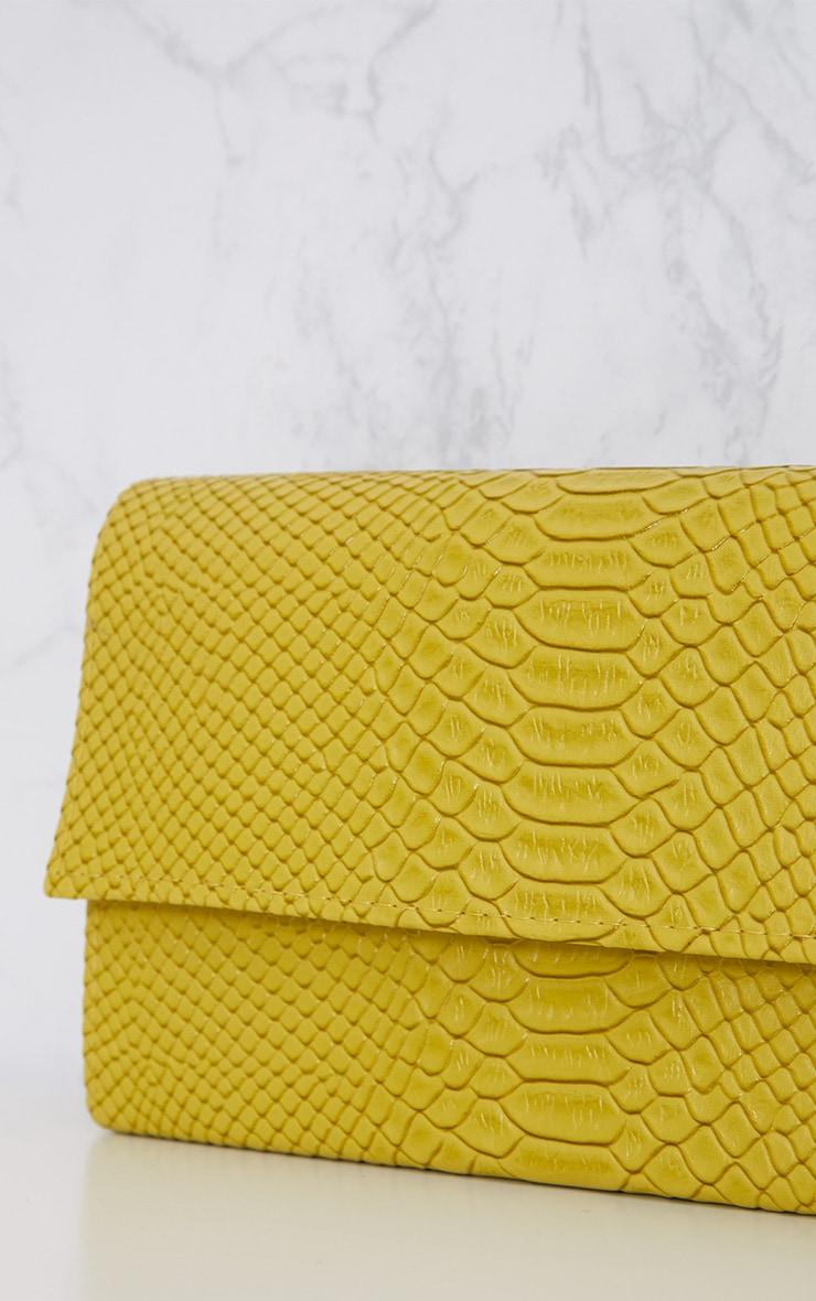 Lime Croc Chain Strap Bag 6