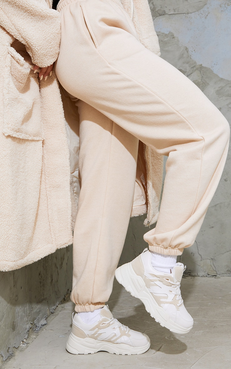 Stone Chunky Panelled Sneakers 2