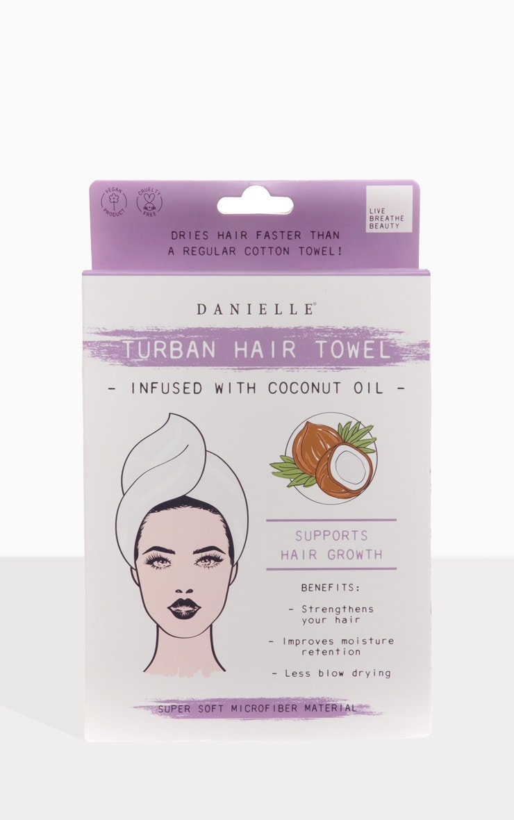 Danielle Creations Coconut Oil Infused Hair Turban 1