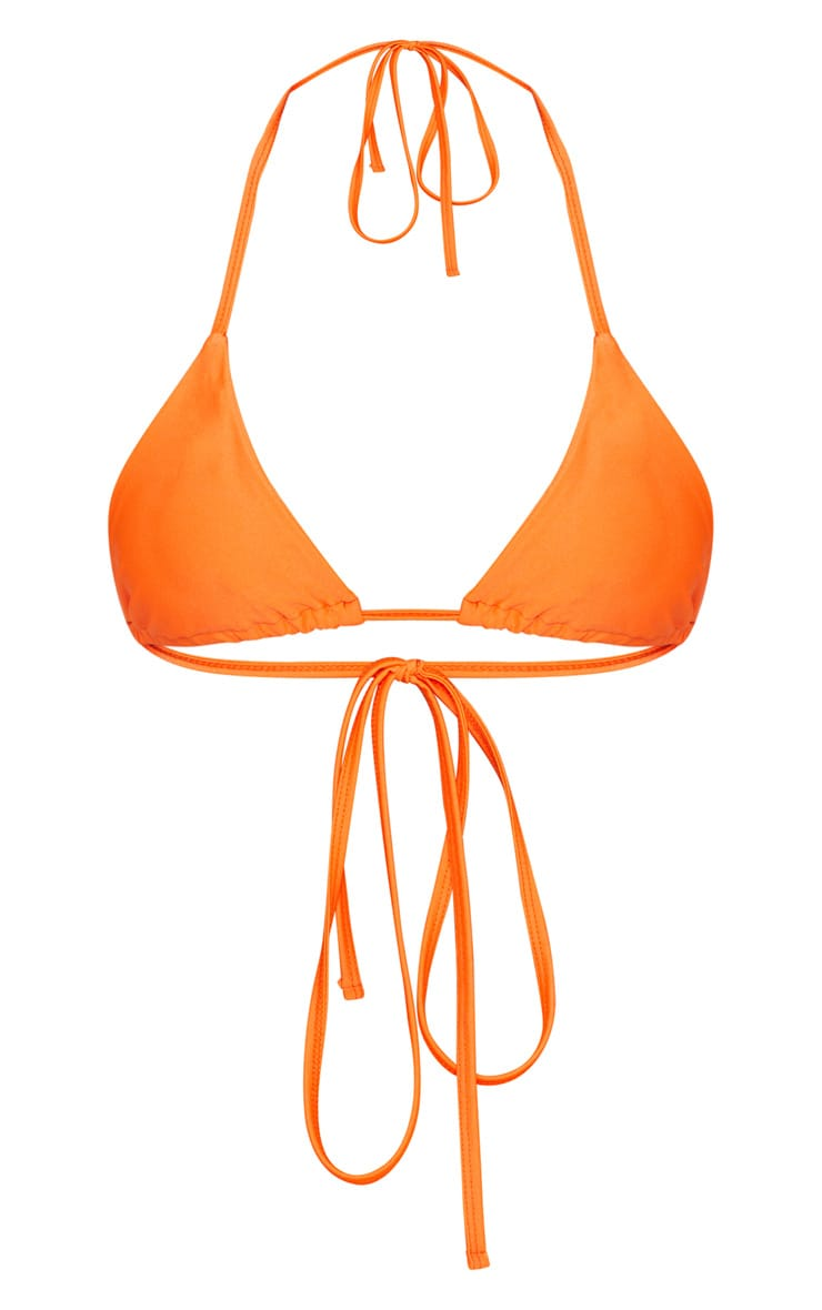 Orange Mix & Match Triangle Bikini Top 1