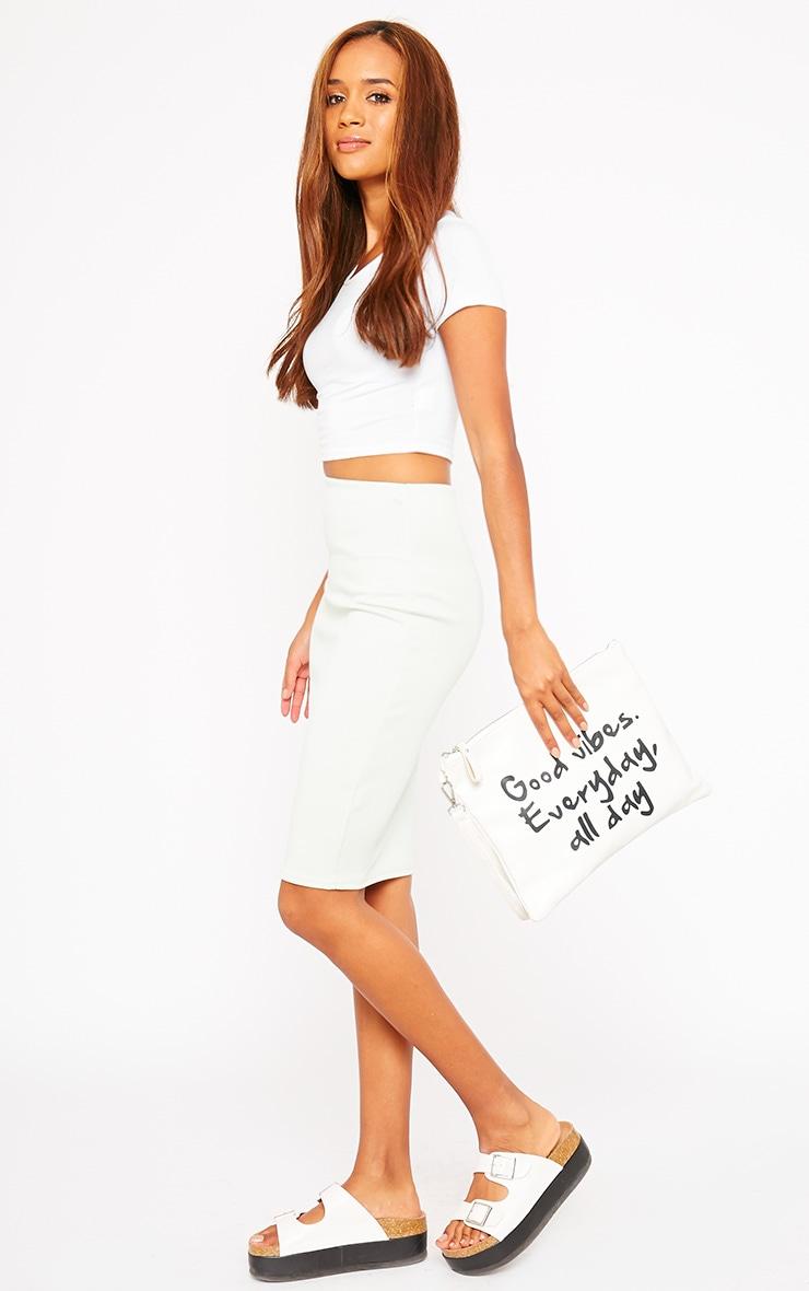 Winnie Mint Scuba Midi Skirt 1