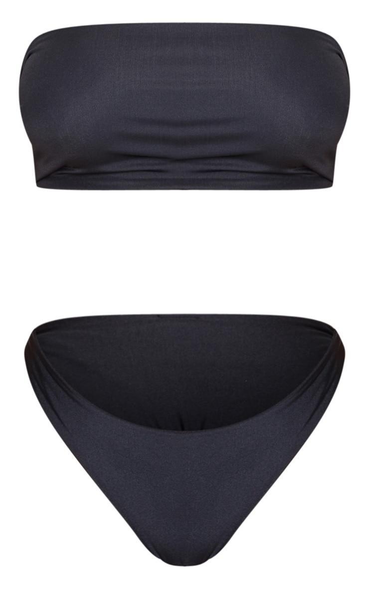 Black Mix & Match Longline Bandeau Bikini Top 5