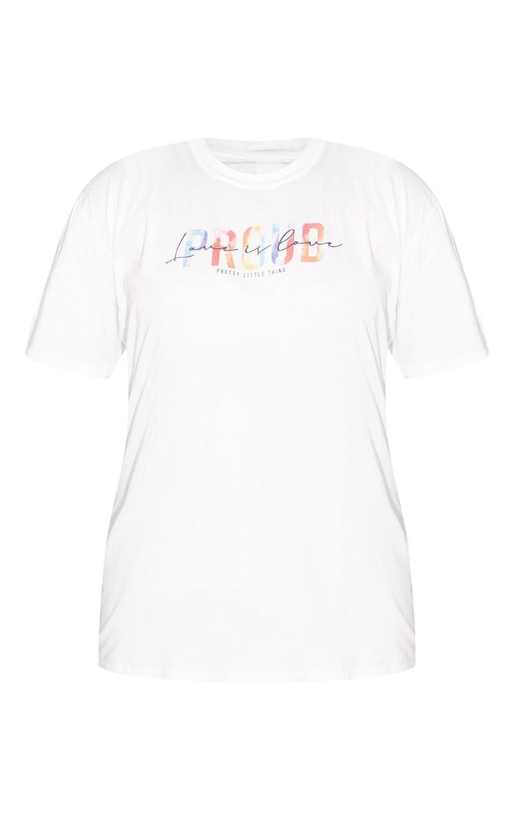 Plus White Love Is Love T Shirt 5