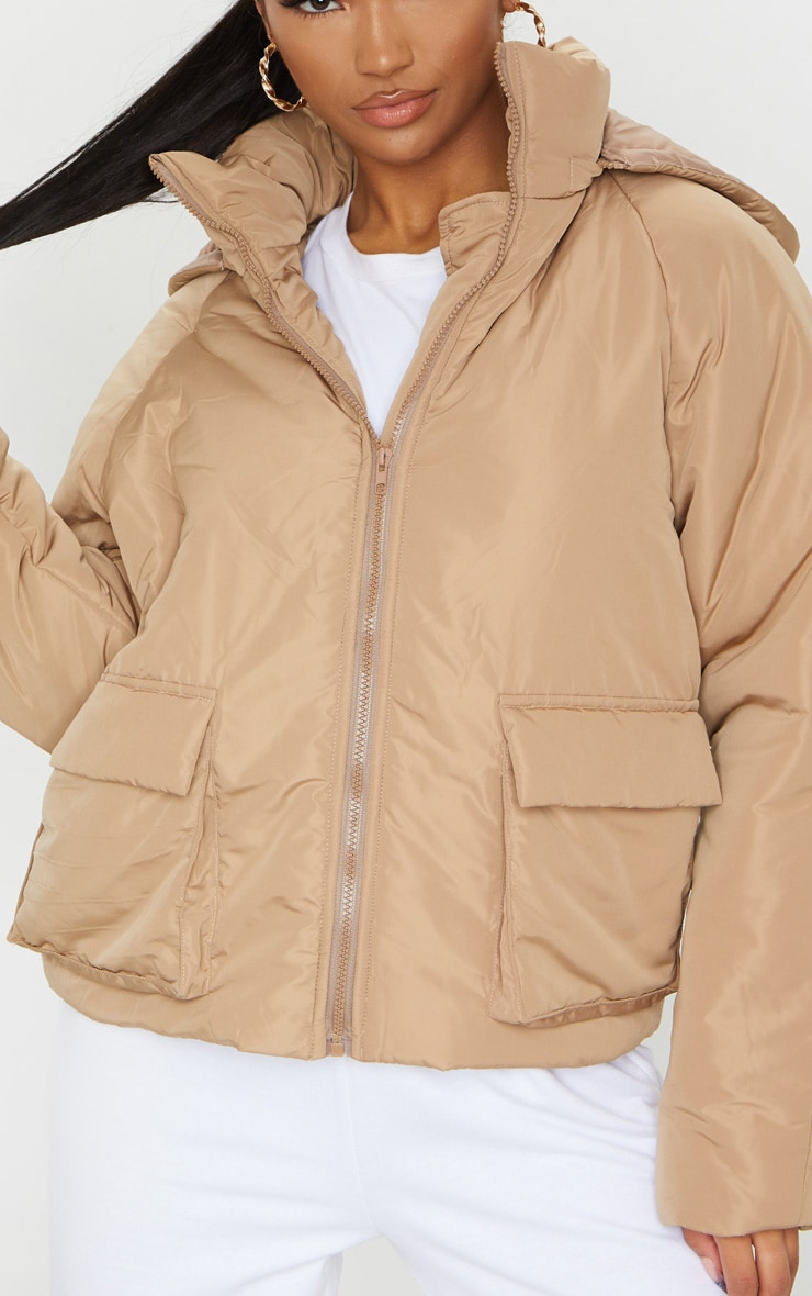 Mocha Basic Hooded Puffer 4