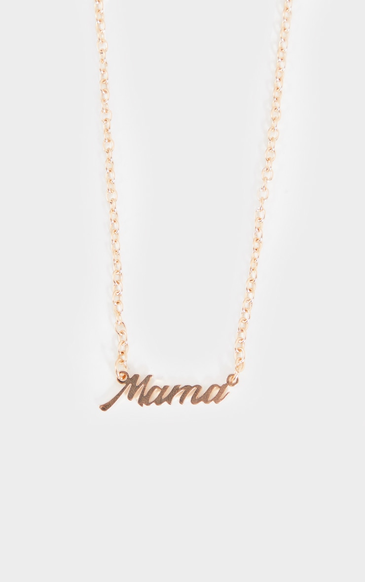 Gold Simple ' Mama' Necklace 3