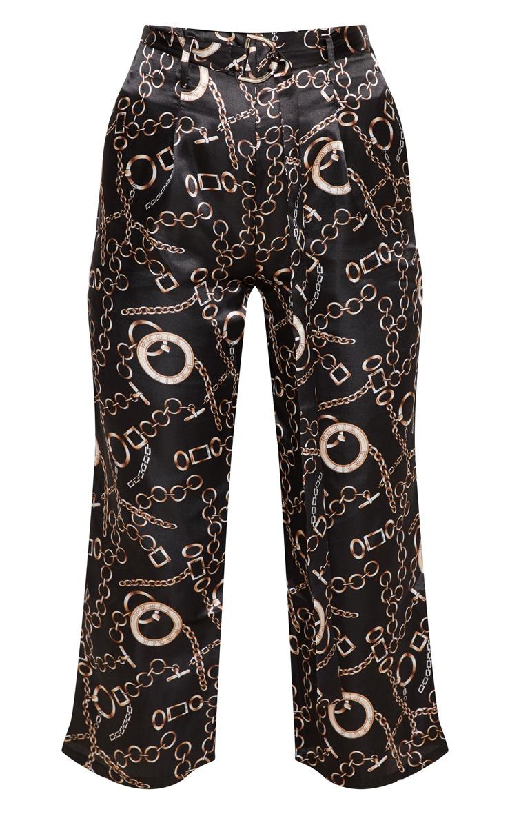 Satin Chain Print Culotte Trouser 3