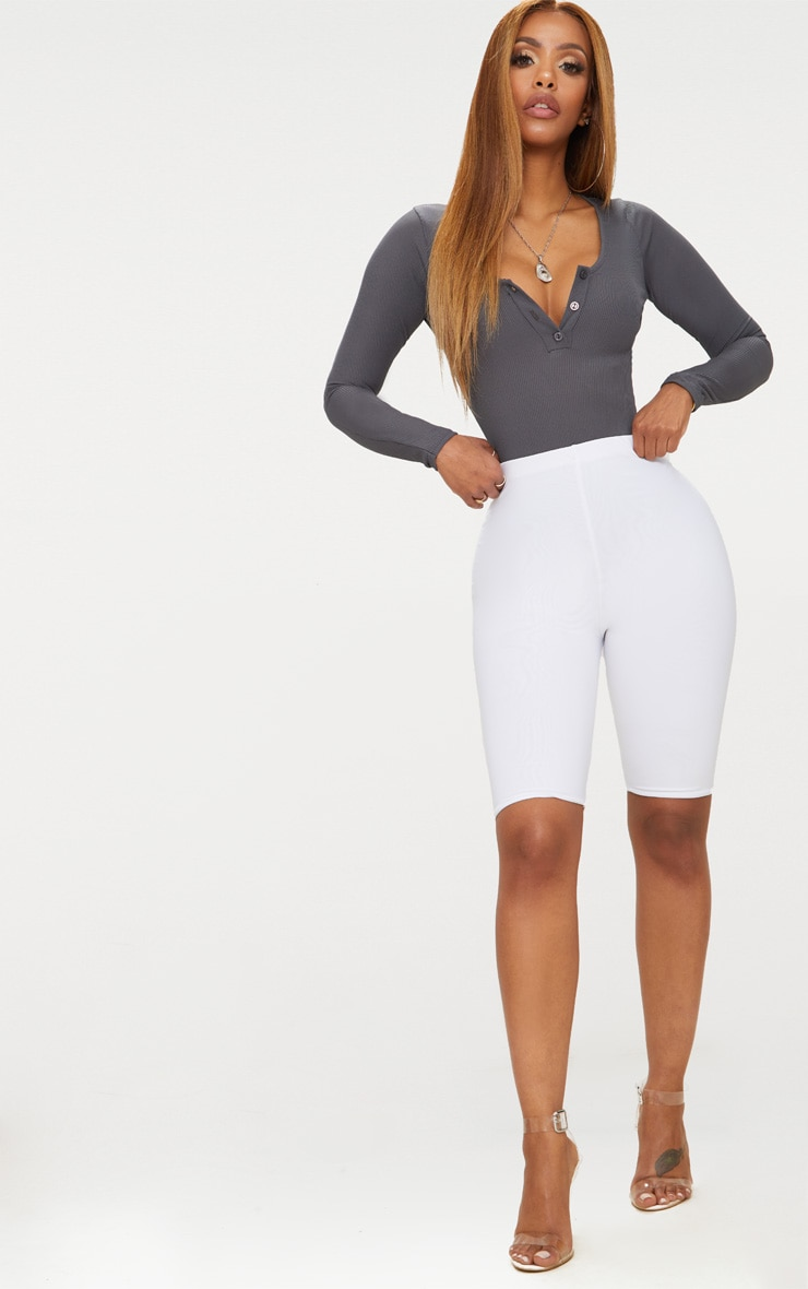 Shape Charcoal Ribbed Long Sleeve Bodysuit 5