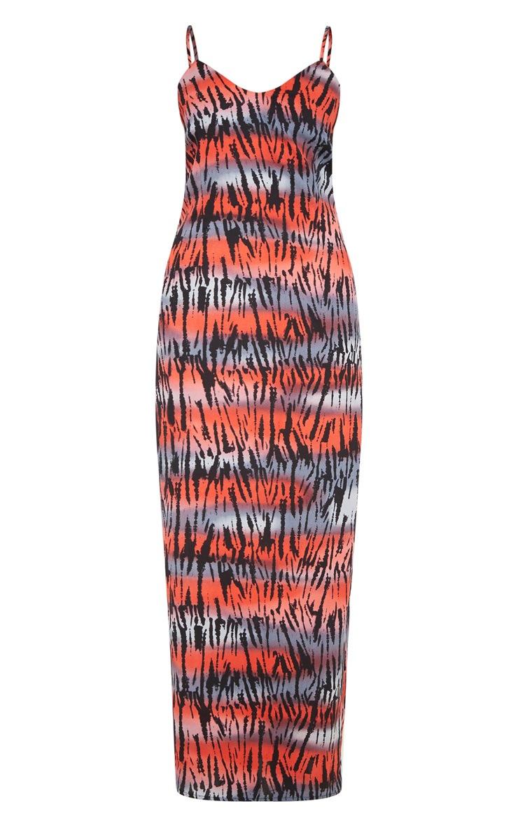 Multi Tiger Maxi Dress 3