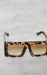 Jeepers Peepers Tort Chunky Gold Side Detail Sunglasses 3
