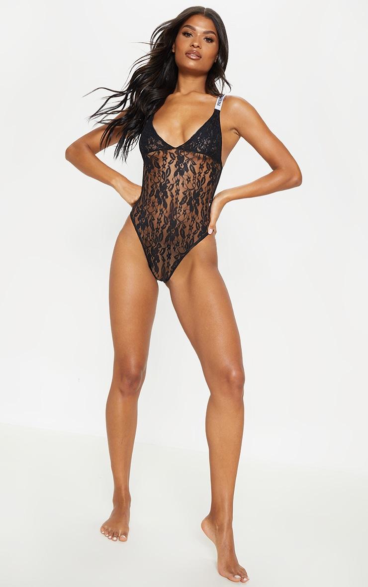 PRETTYLITTLETHING Black Lace Body 5