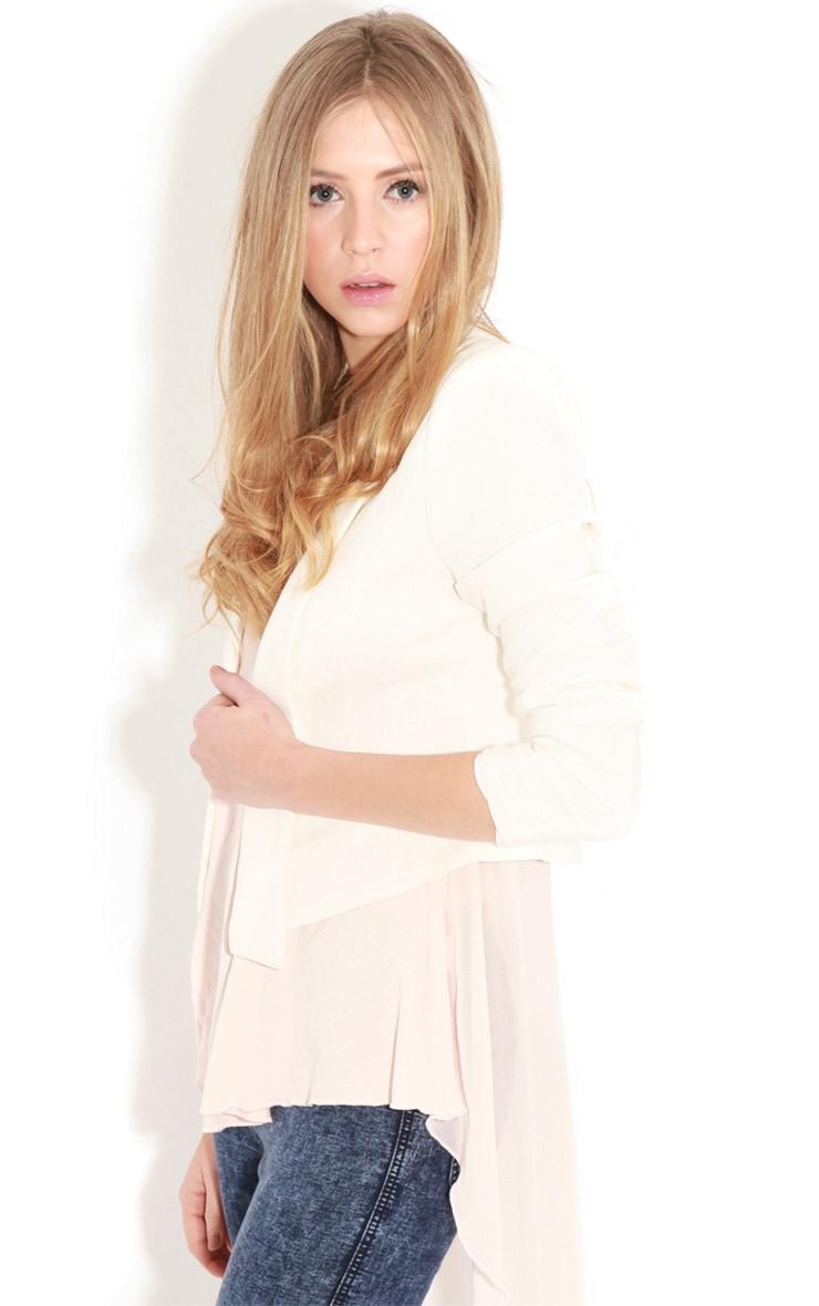 Eadie White Cropped Blazer  1