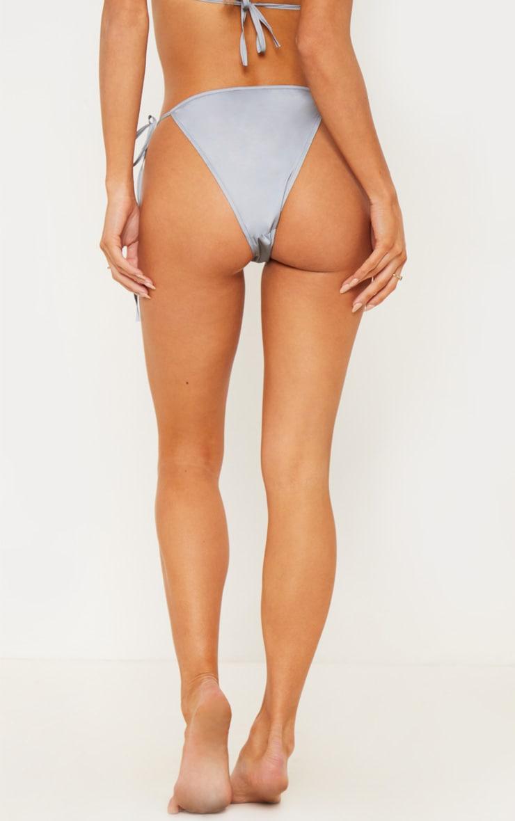 Reflective Tie Side Bikini Bottom 4