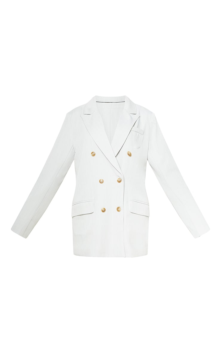 Petite Cream Tailored Blazer 3