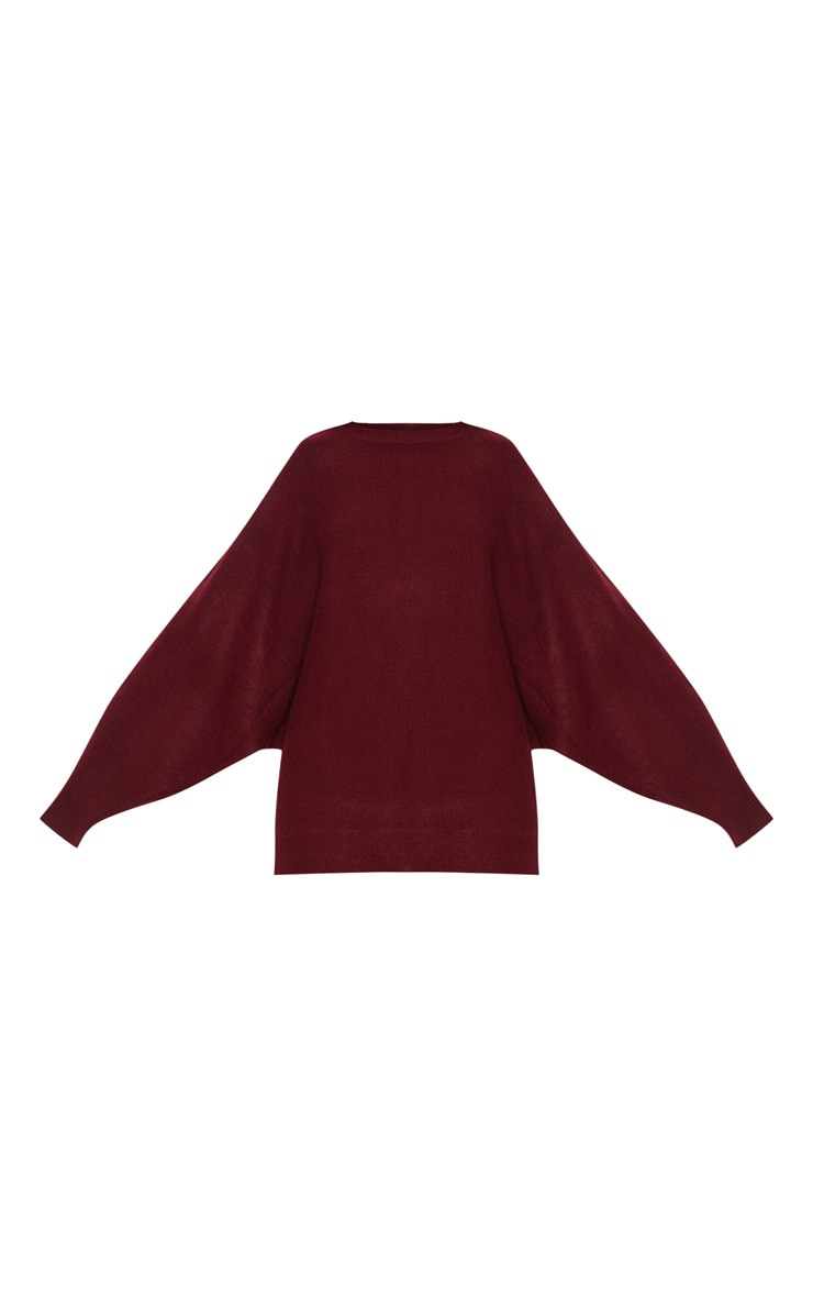 Maroon Knitted Sweater  3