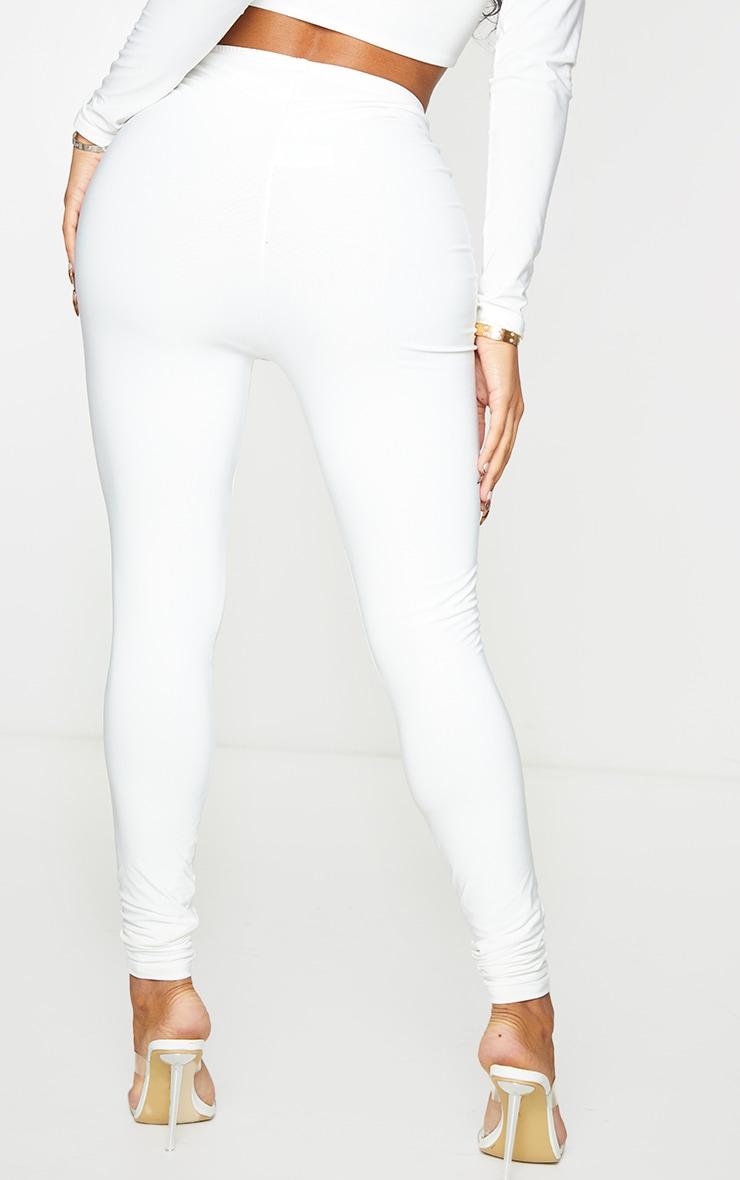 Shape White Slinky Ruched Front Leggings 3