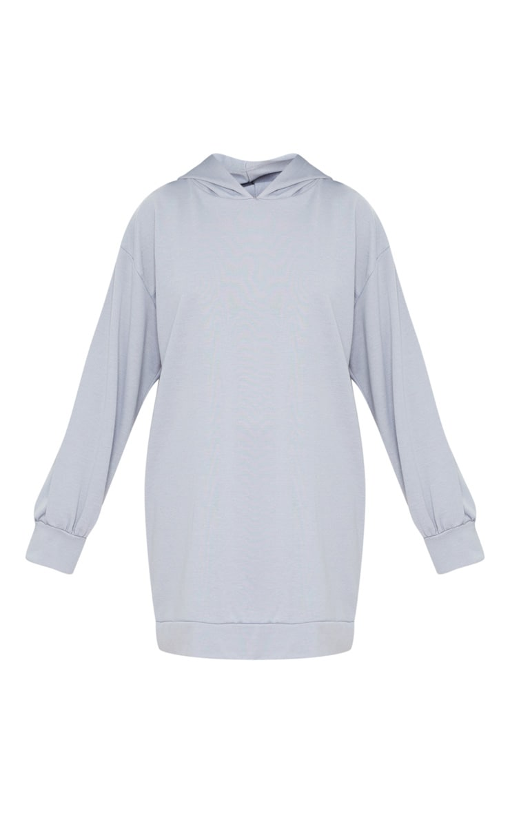 Petite Grey Oversized Hoodie Sweater Dress 5