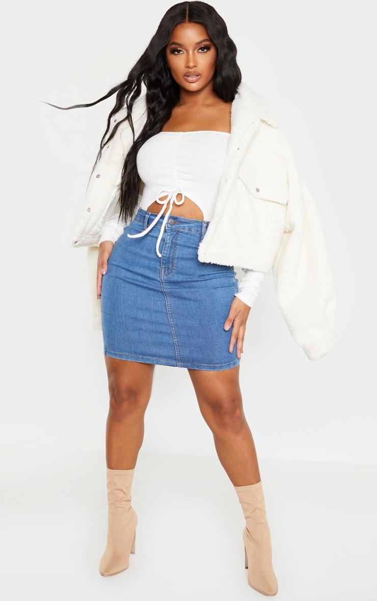 Shape Mid Wash Disco Bodycon Skirt 5