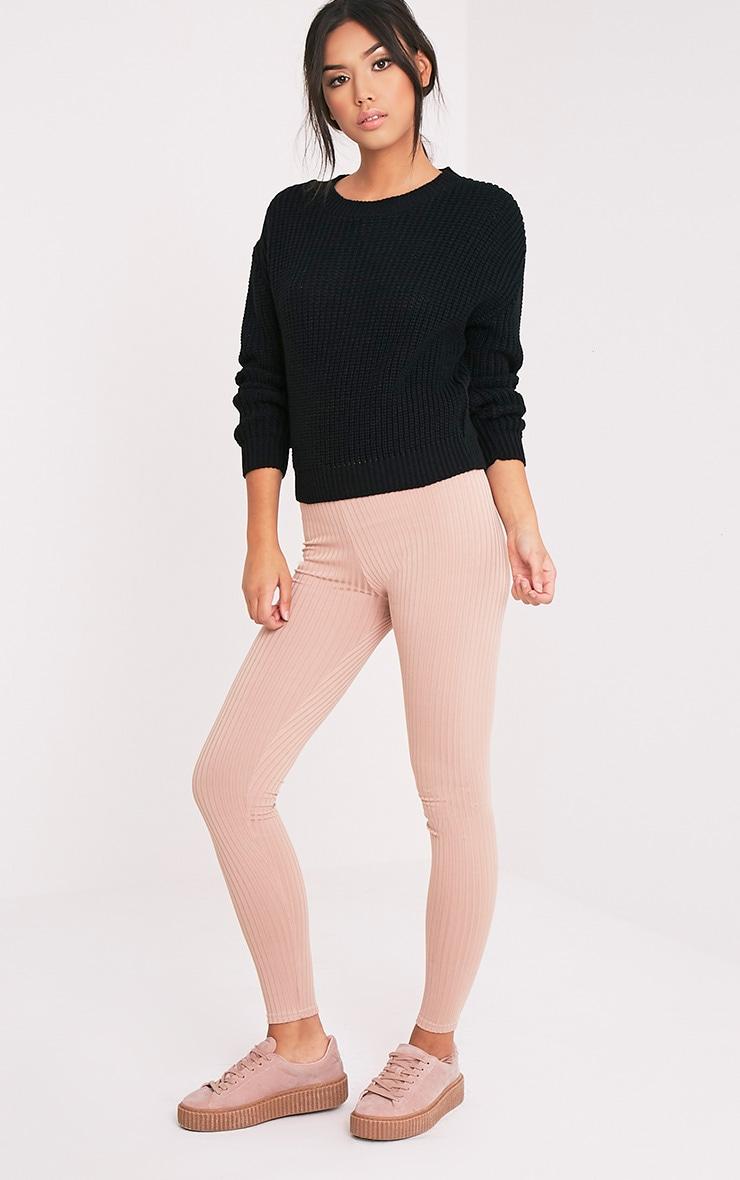 Cara Black Knitted Crop Jumper 1