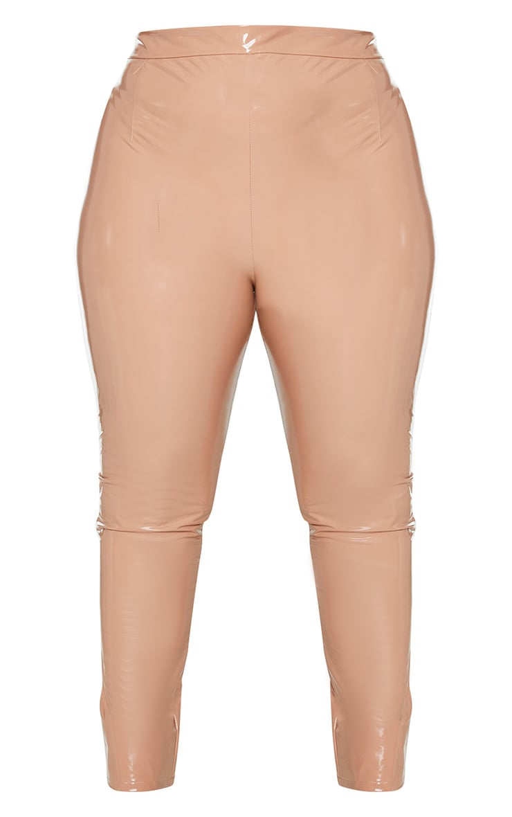 Plus Tan Vinyl Skinny Pants 5