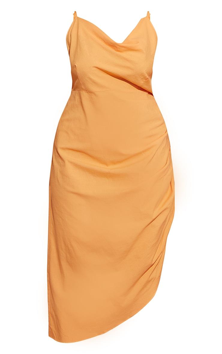 Plus Orange Woven Cowl Neck Midi Dress 5