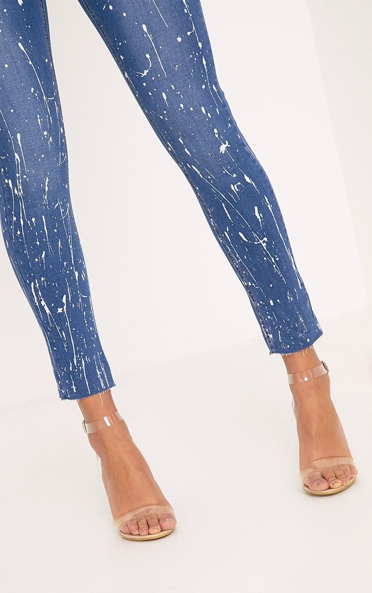 Fion Blue Bleach Splatter Skinny Jean 5