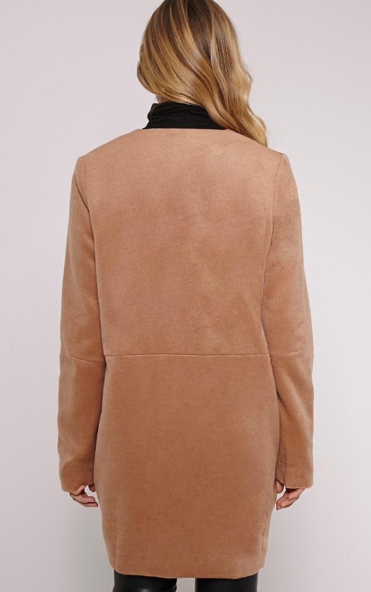 Louella Tan Double Layer Oversized Coat 3