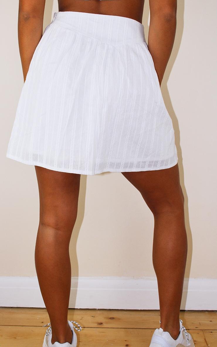 Petite White Lightweight Mini Skirt 3